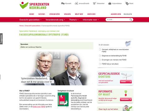 Spierziekten Nederland FSHD pagina oktober 2015